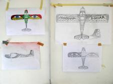 Plan des Flugzeugs