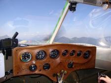 Paradiesvogel Cockpit im Flugbetrieb